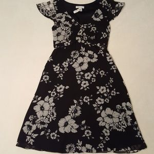 WHBM silk lined floral dress